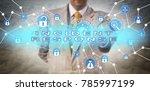 unrecognizable cyber security...   Shutterstock . vector #785997199