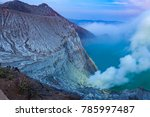 sunrise at kawah ijen volcano...   Shutterstock . vector #785997487