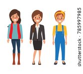 people character in different... | Shutterstock .eps vector #785997985