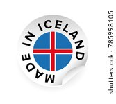 made in iceland sticker tag | Shutterstock .eps vector #785998105