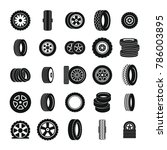 tire icons set. simple... | Shutterstock . vector #786003895