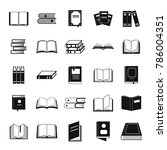 book icons set. simple... | Shutterstock . vector #786004351