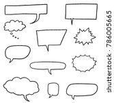 speech bubble vectors   comic... | Shutterstock .eps vector #786005665