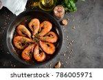 Roasted  Fried  Big Shrimps In...
