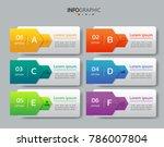infographics design template 3d ... | Shutterstock .eps vector #786007804
