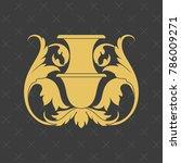 vintage baroque ornament. retro ... | Shutterstock .eps vector #786009271