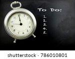 pewter antique alarm clock on...   Shutterstock . vector #786010801