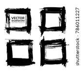 four square frames of black...   Shutterstock .eps vector #786011227