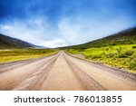 mountain iceland road and... | Shutterstock . vector #786013855