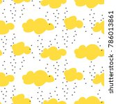 light yellow baby snowy clouds...   Shutterstock .eps vector #786013861