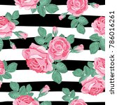 retro floral seamless pattern.... | Shutterstock .eps vector #786016261