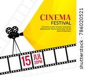 cinema festival poster template.... | Shutterstock .eps vector #786020521