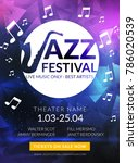 vector musical flyer jazz... | Shutterstock .eps vector #786020539