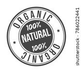 organic 100  natural original...   Shutterstock .eps vector #786022441