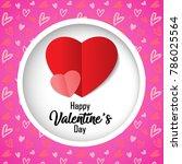happy valentine's day on... | Shutterstock .eps vector #786025564