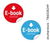 ebook download label sign icon | Shutterstock .eps vector #786028249