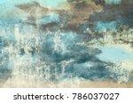 wall painting. handmade.... | Shutterstock . vector #786037027