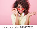 good looking young woman with... | Shutterstock . vector #786037195