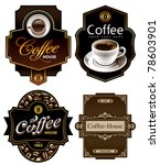 four coffee design templates.... | Shutterstock .eps vector #78603901