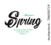 welcome spring text | Shutterstock .eps vector #786050719