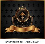 illustration royal golden frame ...
