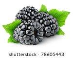 Isolated Berries. Three Fresh...
