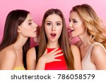 close up of two charming girls... | Shutterstock . vector #786058579