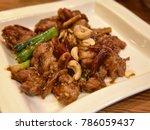 stir fried chicken  chinese...   Shutterstock . vector #786059437
