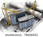 abstract 3d of building... | Shutterstock . vector #78606031