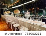 setup wedding table | Shutterstock . vector #786063211