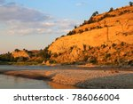 Yellowstone River at sunset in Billings Montana, Summer.