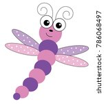 cute dragonfly bug | Shutterstock .eps vector #786068497