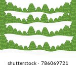 winter season  abstract hand... | Shutterstock . vector #786069721