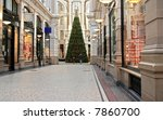 Shopping Arcade With Christmas...