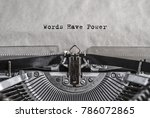 words have power   words ... | Shutterstock . vector #786072865
