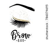 brow bar logo. vector... | Shutterstock .eps vector #786074695