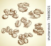 vector set of coffee beans | Shutterstock .eps vector #78608221
