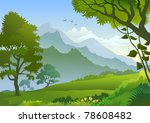 beautiful panorama  of... | Shutterstock .eps vector #78608482