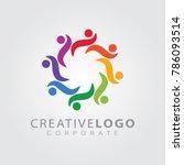 colorful logo design template... | Shutterstock .eps vector #786093514