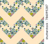 abstract color seamless pattern ... | Shutterstock .eps vector #786095287