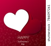 valentine's day greeting card... | Shutterstock .eps vector #786097261