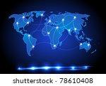 world map light design | Shutterstock .eps vector #78610408