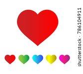heart love icon couple vector... | Shutterstock .eps vector #786104911