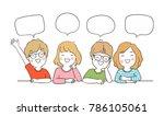 vector illustration character... | Shutterstock .eps vector #786105061