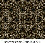 black gold color. luxury... | Shutterstock .eps vector #786108721