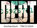 debt and money  united states... | Shutterstock . vector #786111064