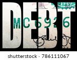 debt and money  united states... | Shutterstock . vector #786111067