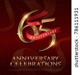 65th years anniversary... | Shutterstock .eps vector #786111931