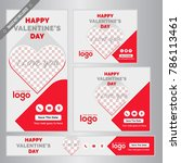 red happy valentine day web...   Shutterstock .eps vector #786113461