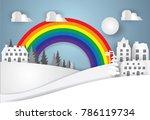 urban countryside landscape... | Shutterstock .eps vector #786119734
